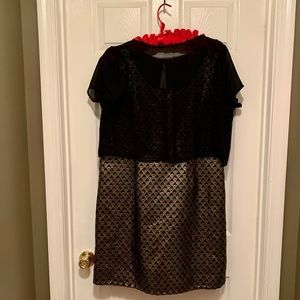 Black and Gold Formal Dress by Simply Be Size 14